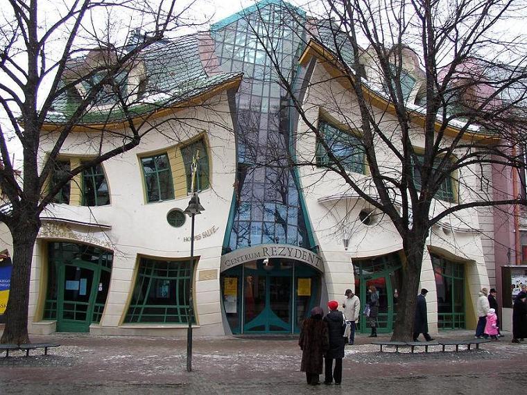 La maison tordue de Sopot (Krzywy Domek en Polonais)