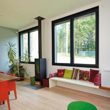 fenêtre alu RAL 9005