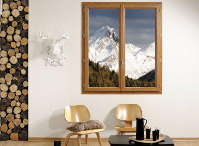 fenêtre PVC aspect bois
