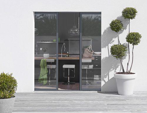 Fiche produit : la baie vitrée à galandage à deux vantaux
