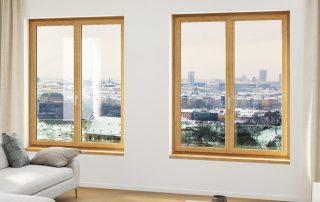 fenêtre PVC imitation bois