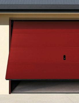 Zoom sur la porte de garage basculante sur mesure
