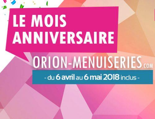Promotion Orion Menuiseries : plus que 7 jours !