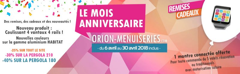 promotion Orion Menuiseries