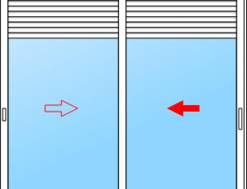 La baie vitrée coulissante avec volet roulant intégré