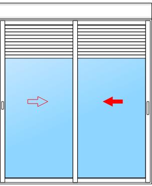 baie vitrée coulissante avec volet roulant intégré