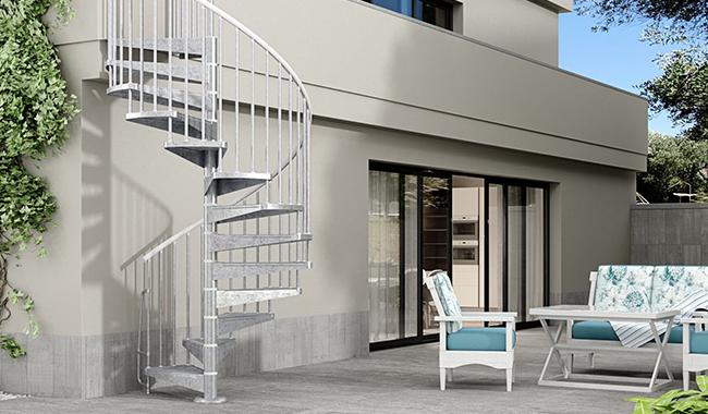 L'escalier extérieur : un atout bien pratique