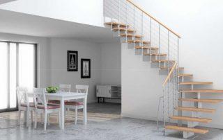 escalier quart tournant modulaire