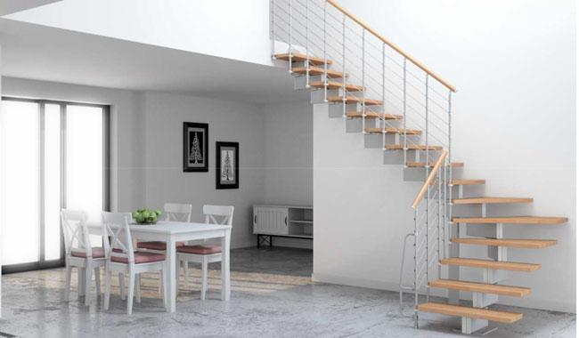 Le point sur l'escalier quart tournant modulaire
