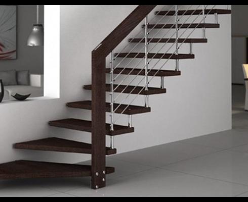L'escalier droit sur mesure