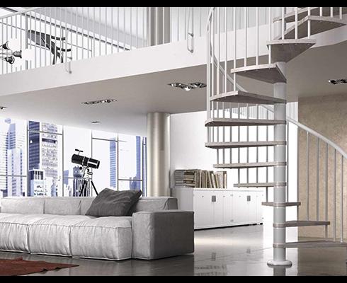 Comment mettre en valeur un escalier à colimaçon ?