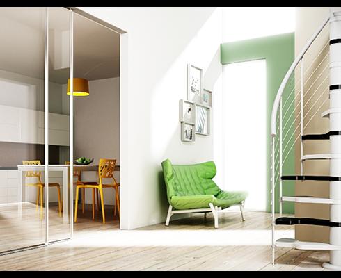 Espace réduit : les possibilités d'escalier