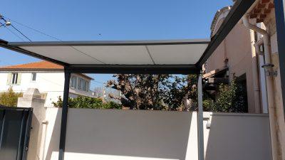 pergola aluminium à toit rétractable