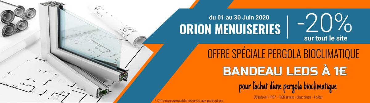 Derniers jours de promotion sur Orion Menuiseries : la rampe LED à 1 € !