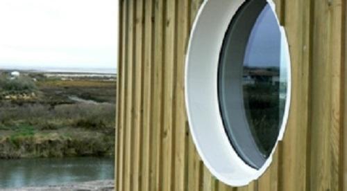 La fenêtre aluminium ronde fixe