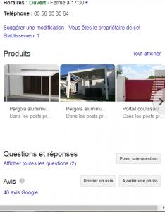 laisser son avis sur Google sur Orion Menuiseries