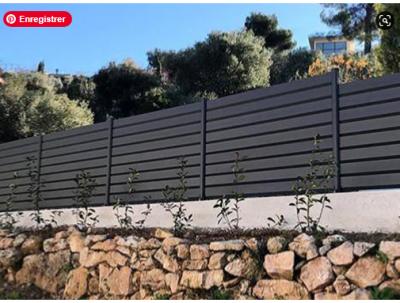 clôture à lames aluminium sur mesure